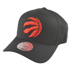 Mitchell & Ness - Black & Team Colour Logo 110 Pinch Panel Snapback - Toronto Raptors - Cap City