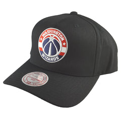 Mitchell & Ness - Black & Team Colour Logo 110 Pinch Panel Snapback - Washington Wizards - Cap City