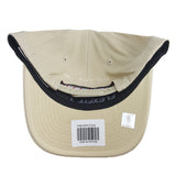 Mitchell & Ness - Black & White Logo 110 Pinch Panel Tan Snapback - Cleveland Cavaliers