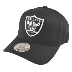 Mitchell & Ness - Black & Team Colour Logo 110 Pinch Panel Snapback - Oakland Raiders