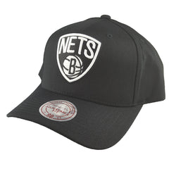 Mitchell & Ness - Black & Team Colour Logo 110 Pinch Panel Snapback - Brooklyn Nets - Cap City
