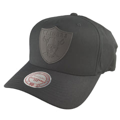 Mitchell & Ness - Black Rubber Logo Flex 110 Snapback - Oakland Raiders