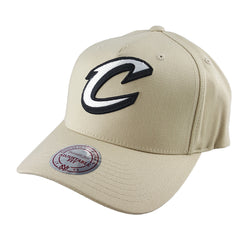 Mitchell & Ness - Black & White Logo 110 Pinch Panel Tan Snapback - Cleveland Cavaliers - Cap City
