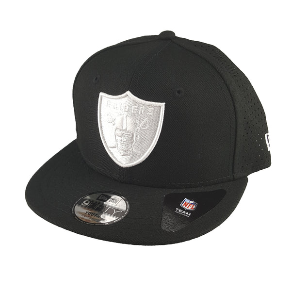 New Era 9FIFTY (Youth) - Monochrome Perf - Oakland Raiders