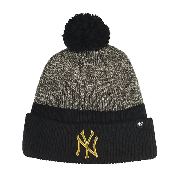 '47 Brand - MLB Backdrop Metallic Cuff Knit Beanie - New York Yankees