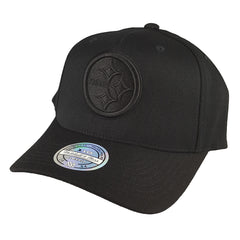 Mitchell & Ness - All Black Logo 110 Snapback - Pittsburgh Steelers - Cap City