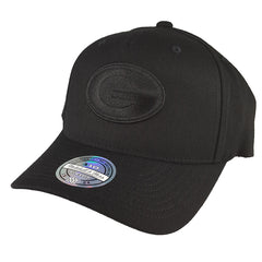 Mitchell & Ness - All Black Logo 110 Snapback - Green Bay Packers - Cap City