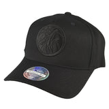 Mitchell & Ness - All Black Logo 110 Pinch Panel Snapback - Minnesota Timberwolves