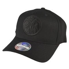Mitchell & Ness - All Black Logo 110 Snapback - Minnesota Timberwolves - Cap City