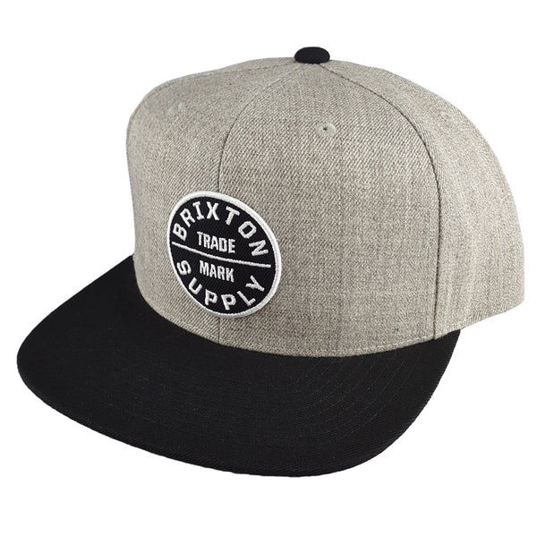 Brixton - Oath III Snapback - Heather Grey/Black