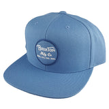 Brixton - Wheeler Snapback - Grey Blue