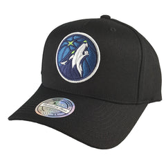 Mitchell & Ness - Black & Team Colour Logo 110 Pinch Panel Snapback - Minnesota Timberwolves - Cap City