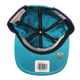 new style a55b2 be60b ... Mitchell   Ness - Satin Fused NBA Snapback - Charlotte Hornets ...