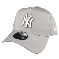 34722504044 NEW ERA 9FORTY A-FRAME - Seasonal Colours Grey - New York Yankees ...