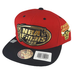 Mitchell & Ness - Mist Gold '97 - '98 6 Rings Collection Red Snapback - Chicago Bulls