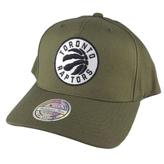 Mitchell & Ness - Black & White Logo 110 Pinch Panel Olive Snapback - Toronto Raptors