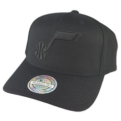 new product 854e2 48531 Mitchell   Ness - All Black Logo 110 Pinch Panel Snapback - Utah ...