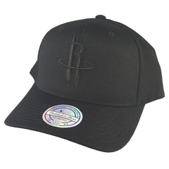 Mitchell & Ness - All Black Logo 110 Pinch Panel Snapback - Houston Rockets