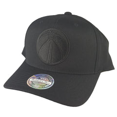 Mitchell & Ness - All Black Logo 110 Pinch Panel Snapback - Washington Wizards