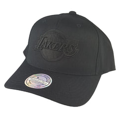 Mitchell & Ness - All Black Logo 110 Pinch Panel Snapback - Los Angeles Lakers