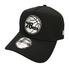 NEW ERA 9FORTY A-FRAME - Street Black & White - Philadelphia 76ers