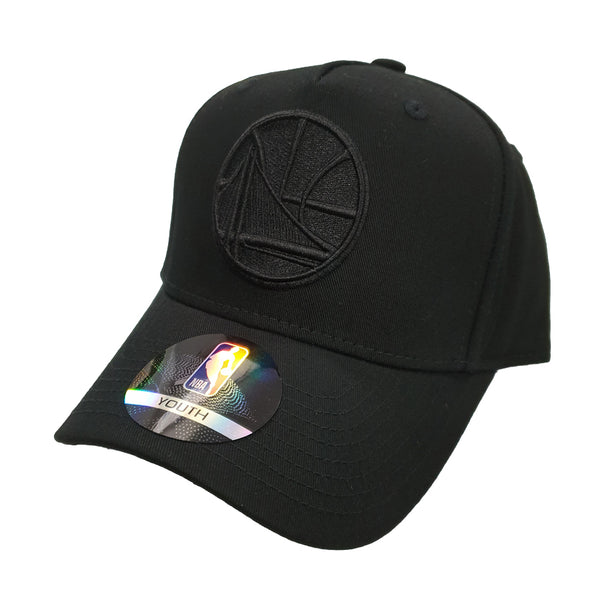 NBA Youth - All Black Logo Snapback - Golden State Warriors
