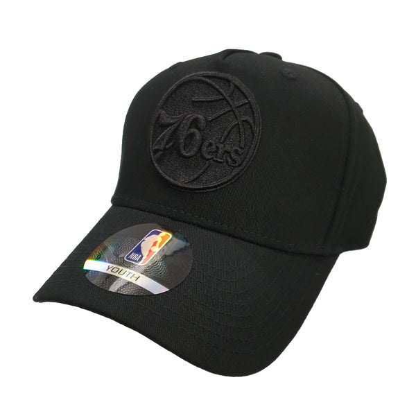 NBA Youth - All Black Logo Snapback - Philadelphia 76ers