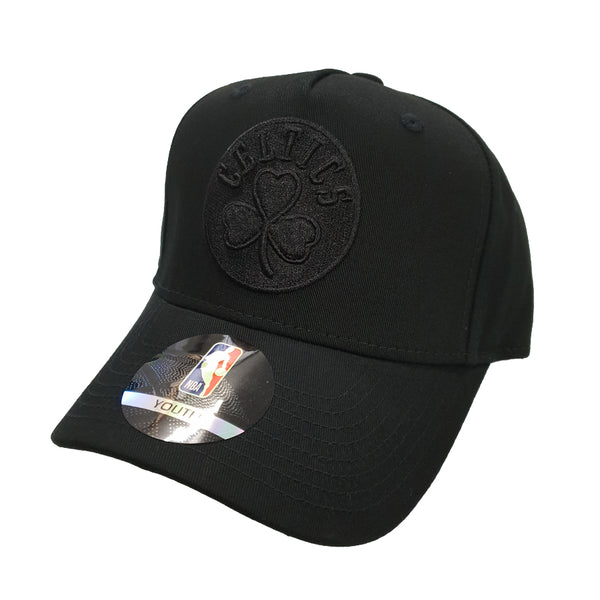 NBA Youth - All Black Logo Snapback - Boston Celtics