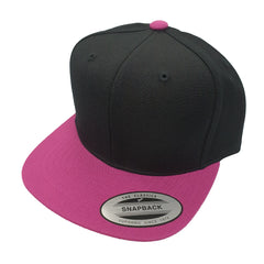 FLEXFIT (Youth) - Classic Snapback - Black/Hot Pink