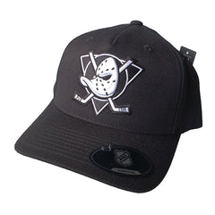 NHL Black & White Logo Pinch 110 Snapback - Anaheim Mighty Ducks