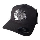NHL Black & White Logo Pinch 110 Snapback - Chicago Blackhawks