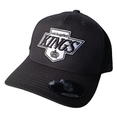 NHL Black & White Logo Pinch 110 Snapback - Los Angeles Kings