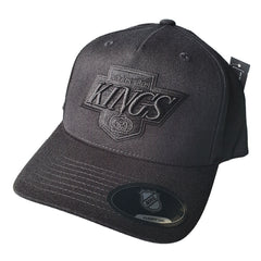 NHL Black on Black Logo Pinch 110 Snapback - Los Angeles Kings