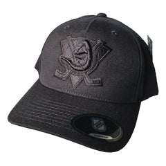 NHL Black on Black Logo Pinch 110 Snapback - Anaheim Mighty Ducks