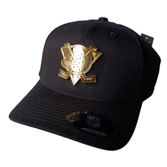 NHL GOLD Enamel Crest Flex 110 Snapback - Anaheim Mighty Ducks
