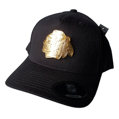 NHL GOLD Enamel Crest Flex 110 Snapback - Chicago Blackhawks