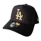 NEW ERA 9FORTY A-FRAME - Black & Gold - Los Angeles Dodgers