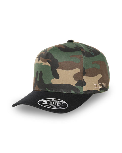 FLEXFIT - Gravity 110 Pinch Panel Snapback - Green Camo/Black