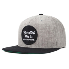 Brixton - Wheeler Snapback - Light Heather Grey/Black
