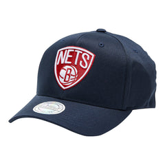 MITCHELL & NESS - Red & White Team Logo Flex 110 Snapback - Brooklyn Nets