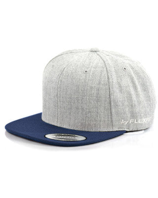 Flexfit - Two Tone Marles Wool Blend Snapback - Heather Grey/Navy