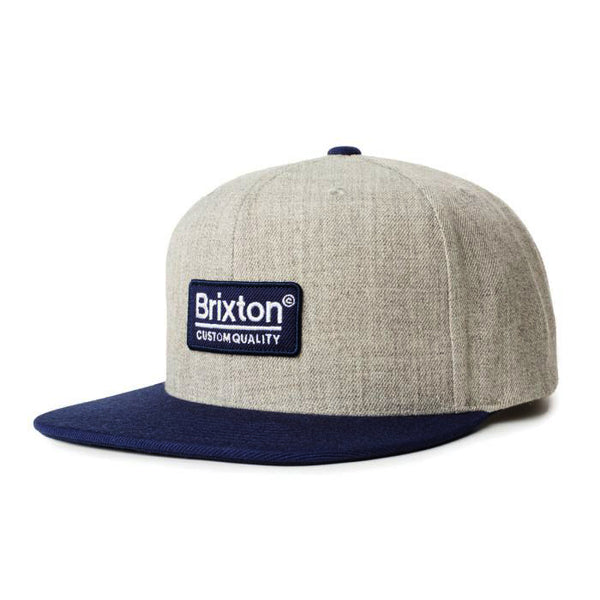 Brixton - Palmer II MP Snapback - Heather Grey/Washed Navy