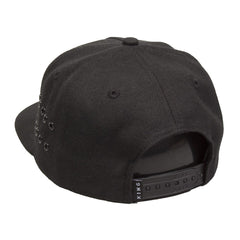 King Apparel - Stepney Pinch Panel Snapback Cap - Black - Cap City