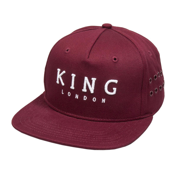 King Apparel - Stepney Pinch Panel Snapback Cap - Oxblood