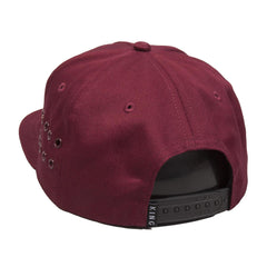 King Apparel - Stepney Pinch Panel Snapback Cap - Oxblood - Cap City