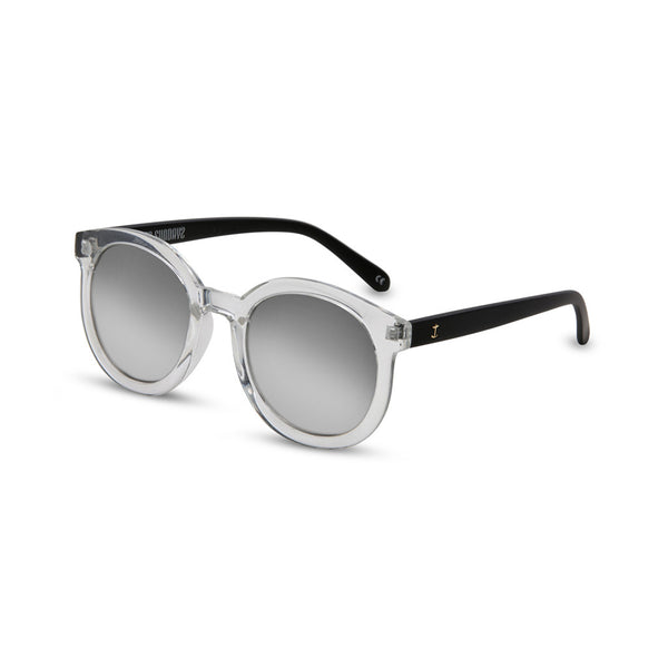 round clear sunglasses front