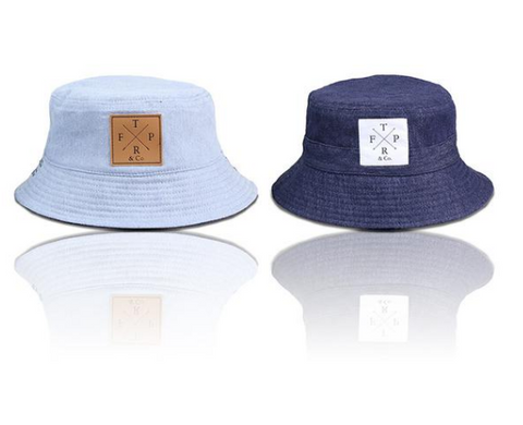 navy and pastel blue kids fashion bucket hats