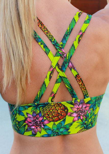 Pine Lime Strappy Crop