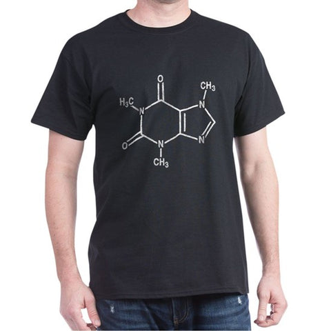 t-shirt with coffee molecular structure