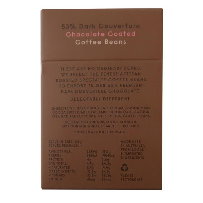 Kali Chocolate Coated Coffee Beans - 80g - Beancraft